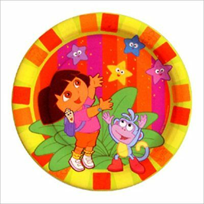 DORA THE EXPLORER Star Catcher SMALL PAPER PLATES (8) ~ Birthday Party Supplies