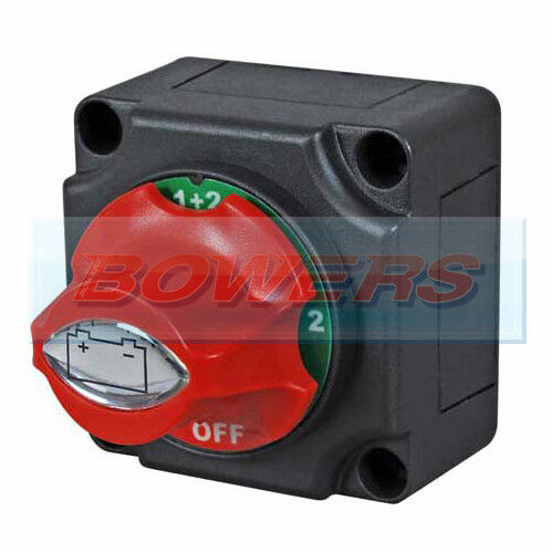 12V//24V MARINE 4 POSITION CHANGEOVER BATTERY ISOLATOR CUT OFF KILL SWITCH 300A