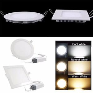 4'' LED Slim Pot( 3 Colors in 1 LED Panel Light, 3 CCT Controllable with Switch), Dimmable 6w=60w cUL certified IC Rated