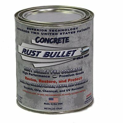 Rust Bullet Rbconq Metallic Gray Protective Floor Coating For Concrete 1 Quart