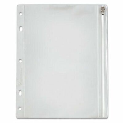 Oxford Zippered Ring Binder Pouch 8 X 10-12 Clearwhite Oxf68504