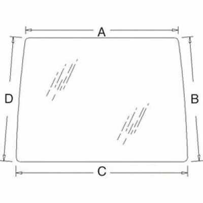 Cab Glass - Windshield Compatible With Ford 8870 8970 8670 8770 New Holland