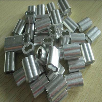 "3/16"" Aluminum cable sleeves/Crimps ~ Qty 25"
