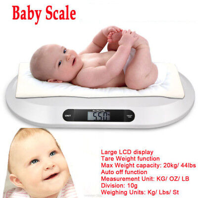 ABS Plastic 20kg Weight Capacity Comfortable Contour Design Digital Baby Scale