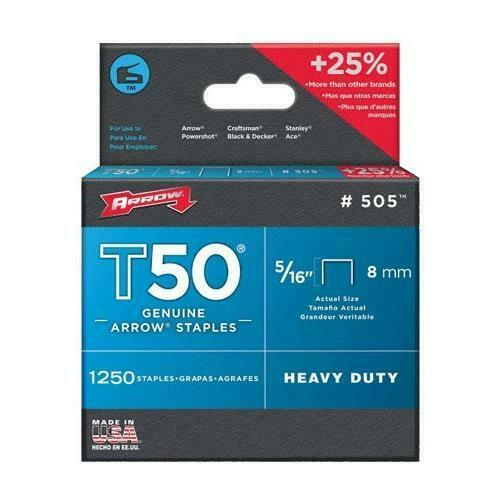 "Arrow Fastener 50524 5/16"" T50 Staples"