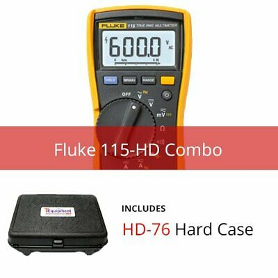 Fluke 115-hd True Rms Multimeter With Hard Case