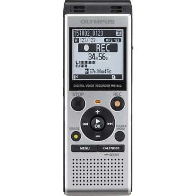 Olympus WS-852 Digital Voice Recorder Silver Large LCD Screen and Speaker