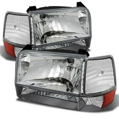 TIFFIN ALLEGRO BUS 2001 2002 2003 CHROME HEADLIGHTS HEAD LIGHTS LAMPS 6 PC RV