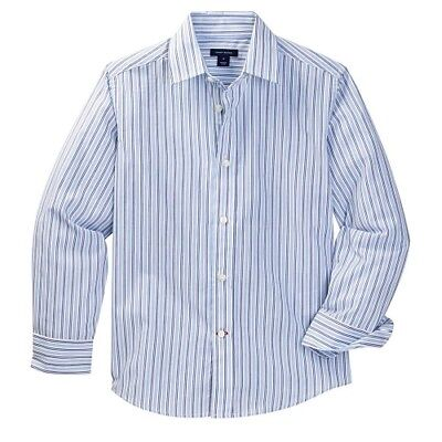 NEW - Tommy Hilfiger Boy's Twill Stripe Long-Sleeve Button-Up Shirt - Pick Size Boys Long Sleeved Twill Shirt