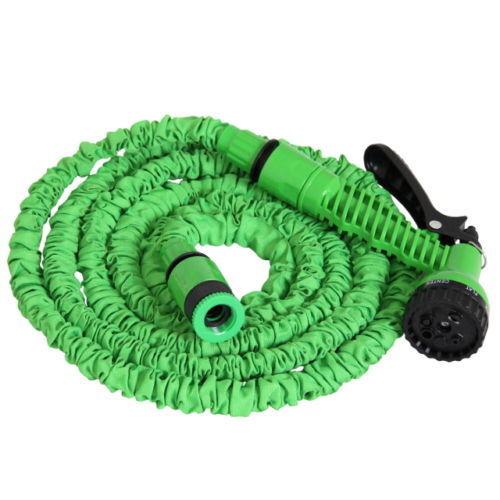 Flexibler Gartenschlauch Wasserschlauch Spiral 15m Gartenbrause Sprühkopf Wasser