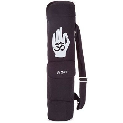Fit Spirit Exercise Yoga Mat Bag w/ 2 Cargo Pockets