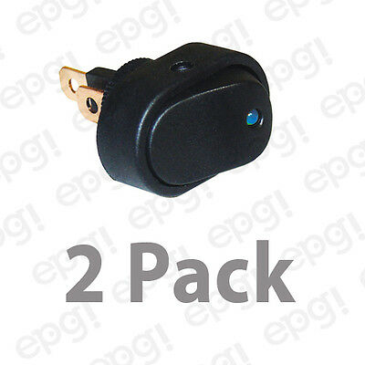 Spst Onoff Led Illuminated Rocker Switch Blue 20a - 12vdc Rsbdlx-2pk