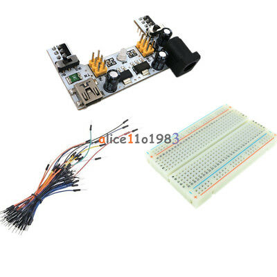 Mini Usb Mb102 Power Supply Solderless Mini Breadboard 40065pcs Jump Cable Wire
