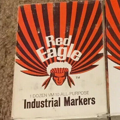 Vintage Markers Red Eagle Solvent Based Industrial 12 Markers! Dozen Of Green!