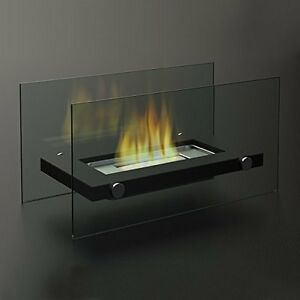 Bio Ethanol Fireplace Table Top Indoor Outdoor Garden Fire Flame Glass Ebay