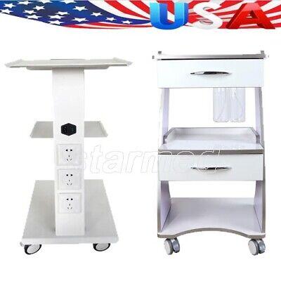 Dental Trolley Medical Mobile Tool Cart Built-in Socket With 4 Universal Castors