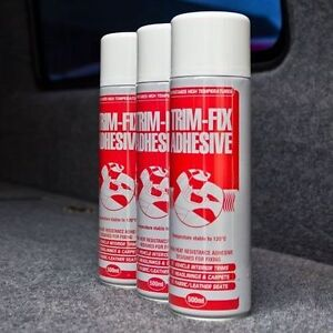 3 Cans Trimfix High Temp Spray Adhesive 500ml Tins - SPECIAL OFFER !!