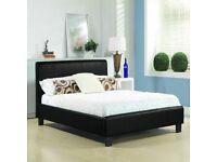 Hamburg Faux Leather Bed Frame-Bargain