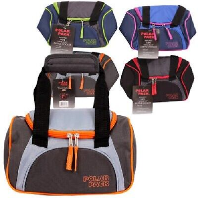 - 1 Polar Pack Insulated Mini Duffle Cooler Bag 1 Compartment With Zipper Closure