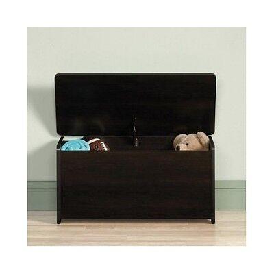 Kids Toy Box Storage Chest Dark Cherry Bedroom Furniture Organizer Wood Bench