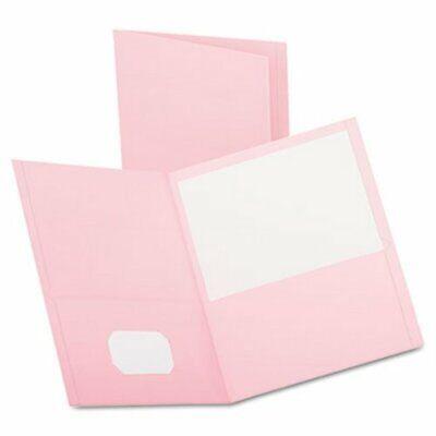 Oxford Twin-pocket Portfolio Leather Grain Paper Pink 25 Folders Oxf57568