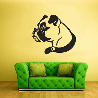 Wall Vinyl Sticker Bedroom Kids Decal Boxer Dog Pooch Hound (Z2000)