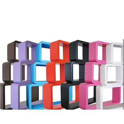 Deko Wand Regale (Bücherregal Wandregal Hängeregal Retro Regale CD Regal Cube Cubes Würfel Deko )