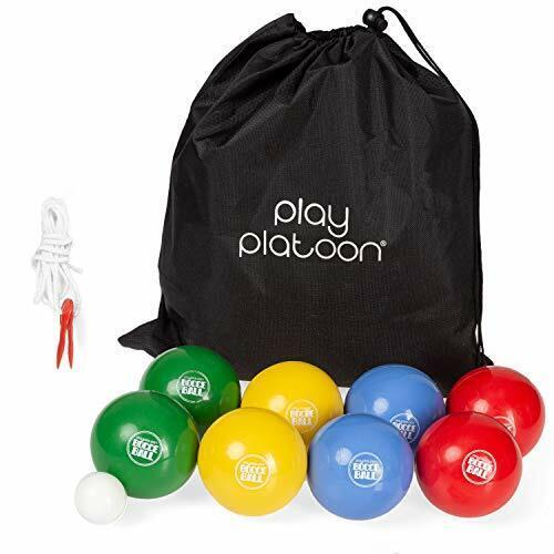Play Platoon Beach Bocce Ball Set with 8 Soft Bocce Balls, Pallino, Carry Bag