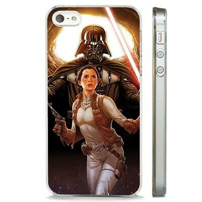 Star Wars Darth Vader Princess Leia CLEAR PHONE CASE COVER fits iPHONE 5 6 7 8 X