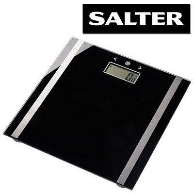 SALTER ULTRA SLIM GLASS ELECTRONIC LCD DIGITAL BODY ANALYSER BMI BATHROOM SCALES