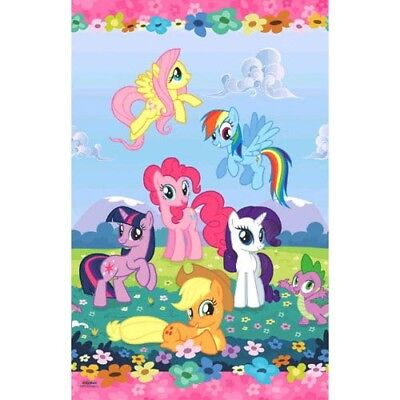 MY LITTLE PONY Friendship is Magic PLASTIC TABLE COVER ~ Birthday Party Supplies - Mlp Birthday Party