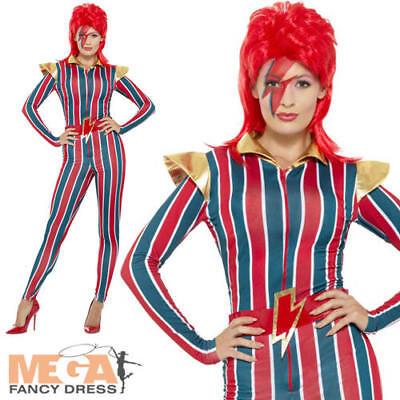 Miss Space Superstar Ladies Fancy Dress 80s Icon Star David Bowie Adults - 80 Superstar Kostüm