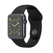 CONFIRM APPLE CARE+ Apple Watch Sport 38mm Space Gray Aluminum Black Sport Band