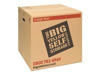 5 medium and 2 large Big Yellow cardboard boxes suitable for moving house/storage