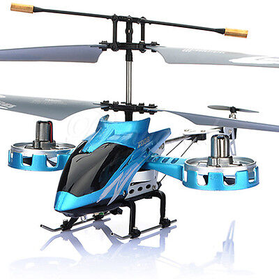 Avatar Z008 4 Channel 4CH Gyro Remote Control RC Mini Helicopter Blue RTF Toy on Rummage
