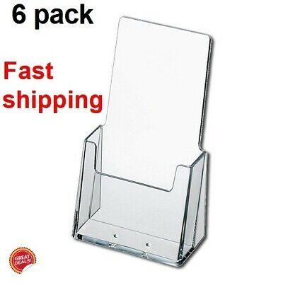 Brochure Holder Business Card Desk Organizer Acrylic Tri Fold Stand Display Pack