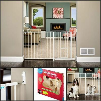 Large Pet Gate Best Heavy Duty Metal Dog Fence Extra Small Walk Thru Safety