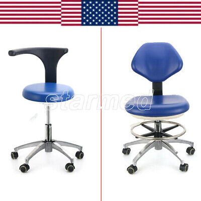 Dentist Adjustable Stool Nurse Rolling Chair Pu Leather For Clinic Hospital