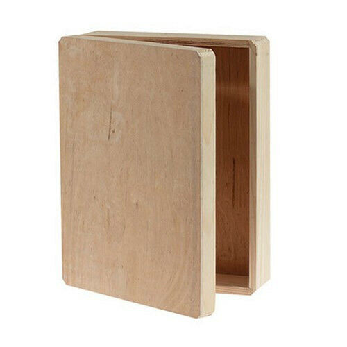 Wood Memory Box Hinged Lid 12X9.125X3.25