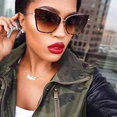 Cat Eye Oversized Large VINTAGE Square Aviator FashioN New Women Sunglasses   ()