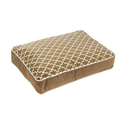 Bowsers Pet CEDAR LATTICE MicroVelvet Super Loft Rectangle Dog Bed — Pick Size