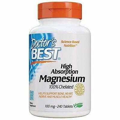 2X Doctor's Best® High Absorption Magnesium Glycinate Chelated 100mg 240 Tabs