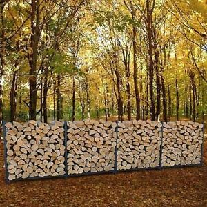 Half Face Cord Dry Split Stacked Hardwood Firewood - St. Thomas
