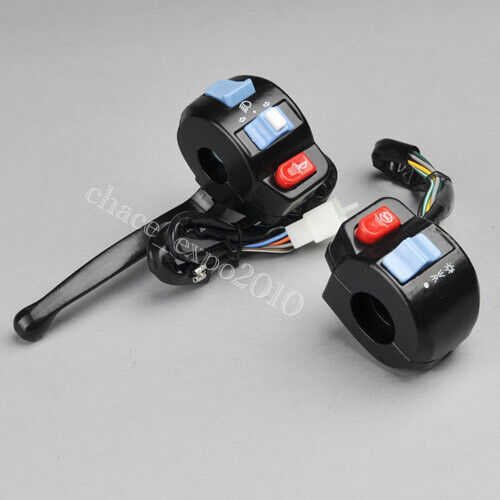 """Motorcycle Scooter 7/8"""" Handlebar Horn Turn Signals Lights Controller Switch #YU"""