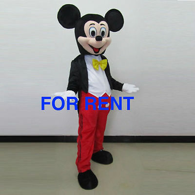 RENT Mickey Mouse Mascot Costume Adult Disney Halloween character party event  - Adult Mickey Mouse Halloween Costume