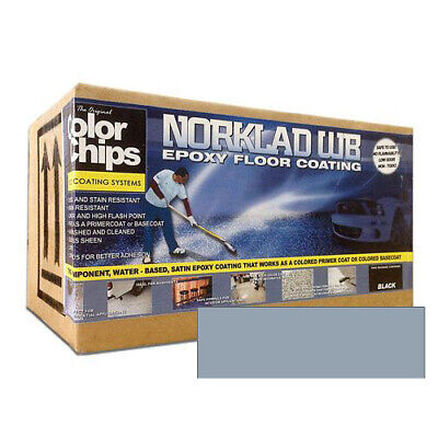 Norklad Wb - Waterborne Epoxy Floor Paint Base Coat Steel Blue 1 Gallon Kit