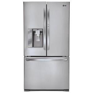 Réfrigérateur  LG  36 po,  30 pi.cu., machine à glace et à eau, Acier inox, (SKU: 1032), LFXS30766S