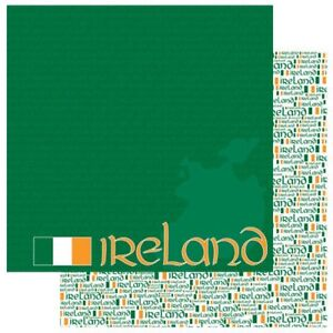 CUSTOM-SCRAPBOOK-PAPER-SET-IRELAND-IRISH-TRAVEL-VACATION-PAPERS-12-x12