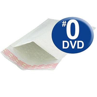 100 Size #0 6.5x10 Kraft White Bubble Mailers DVD SIZE (White Bubble)