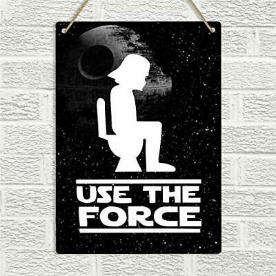 New Tin Sign Vintage Retro Signs Use The Force Funny Wc Toilet Restroom Bh027